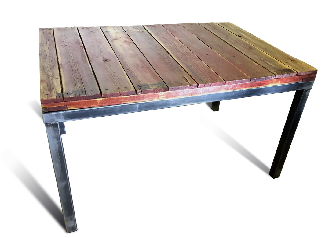 Denver Colorado Industrial Furniture Reclaimed Wood Dining Table