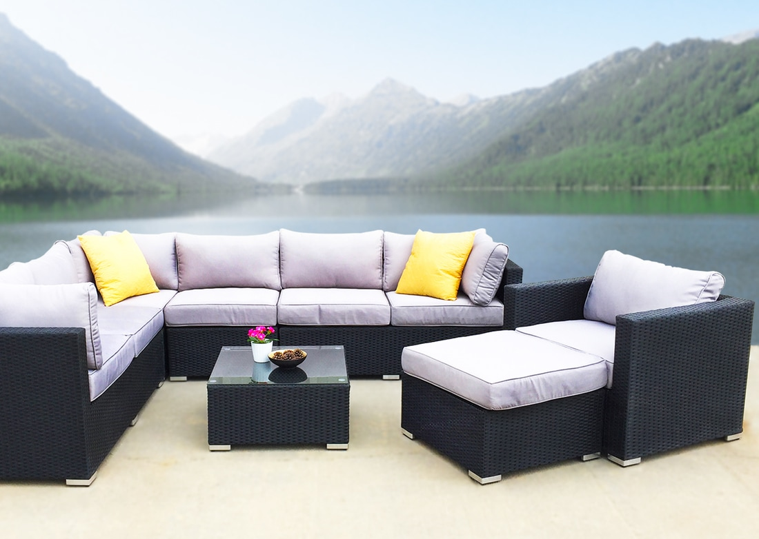 MODERN OUTDOOR FURNITURE SET SECTIONAL KB FURNISHINGS MODERN - Patio furniture denver co