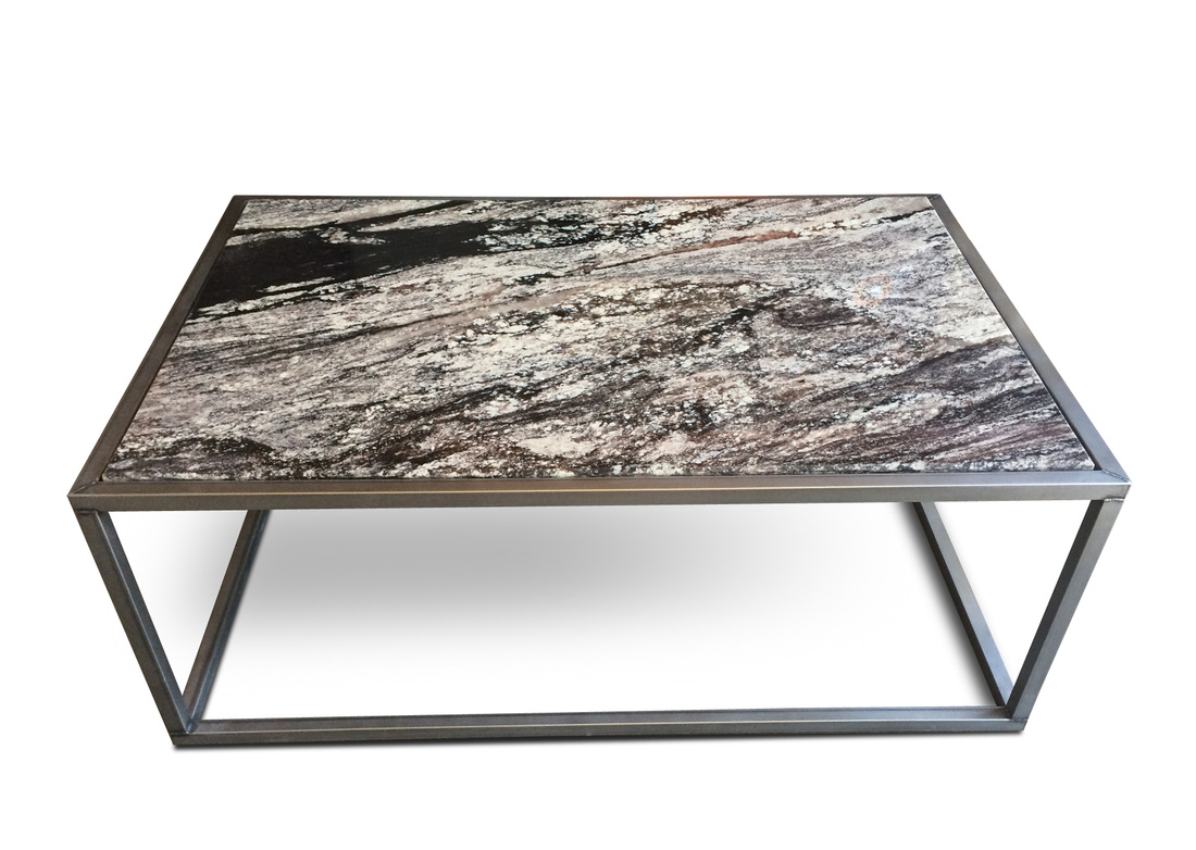 CONTEMPORARY GRANITE TOP COFFEE TABLE MODERN FURNITURE
