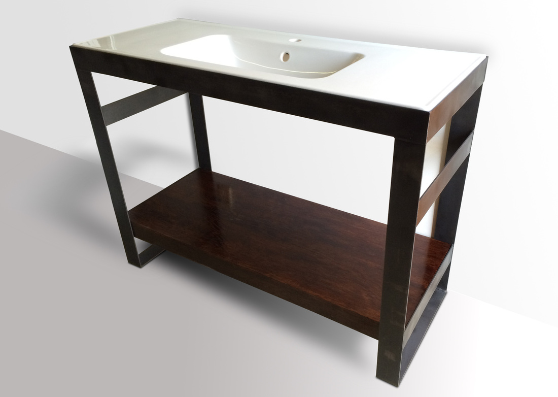 INDUSTRIAL MODERN STEEL VANITY -KB FURNISHINGS