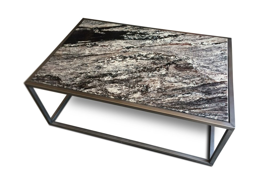 CONTEMPORARY GRANITE TOP COFFEE TABLE