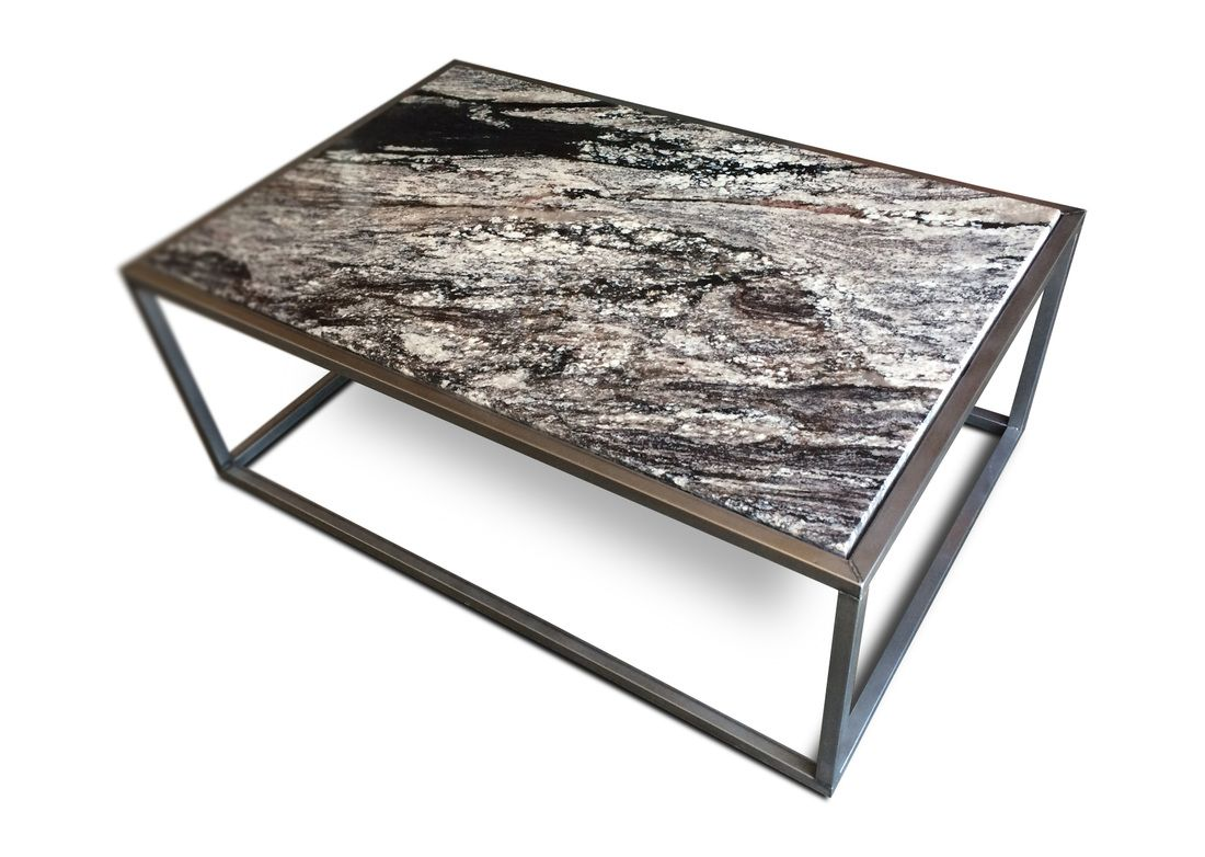 Contemporary granite top coffee table modern furniture and industrial furniture by kb furnishings Coffee tables with marble tops