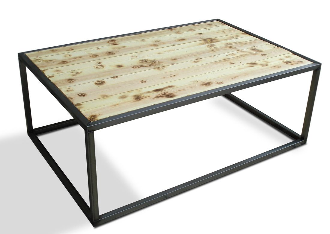 Denver Colorado modern furniture loft style coffee cocktail table