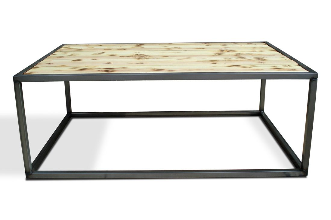 Industrial modern coffee cocktail table set kb for Coffee tables industrial