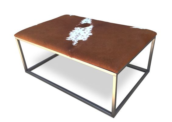 Denver Colorado modern furniture contemporary  cowhide ottoman