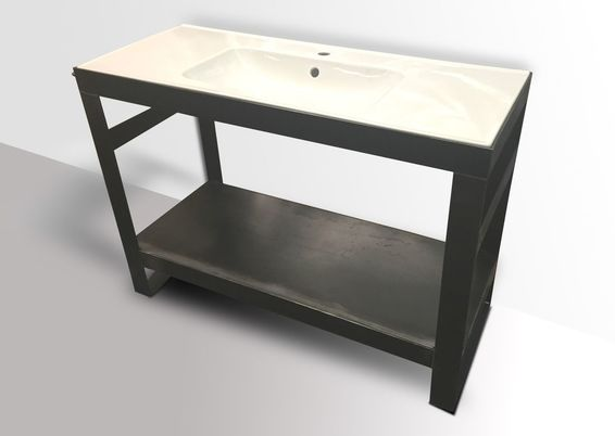 Denver Colorado industrial modern bathroom vanity washstand sink stand modern bathroom decor