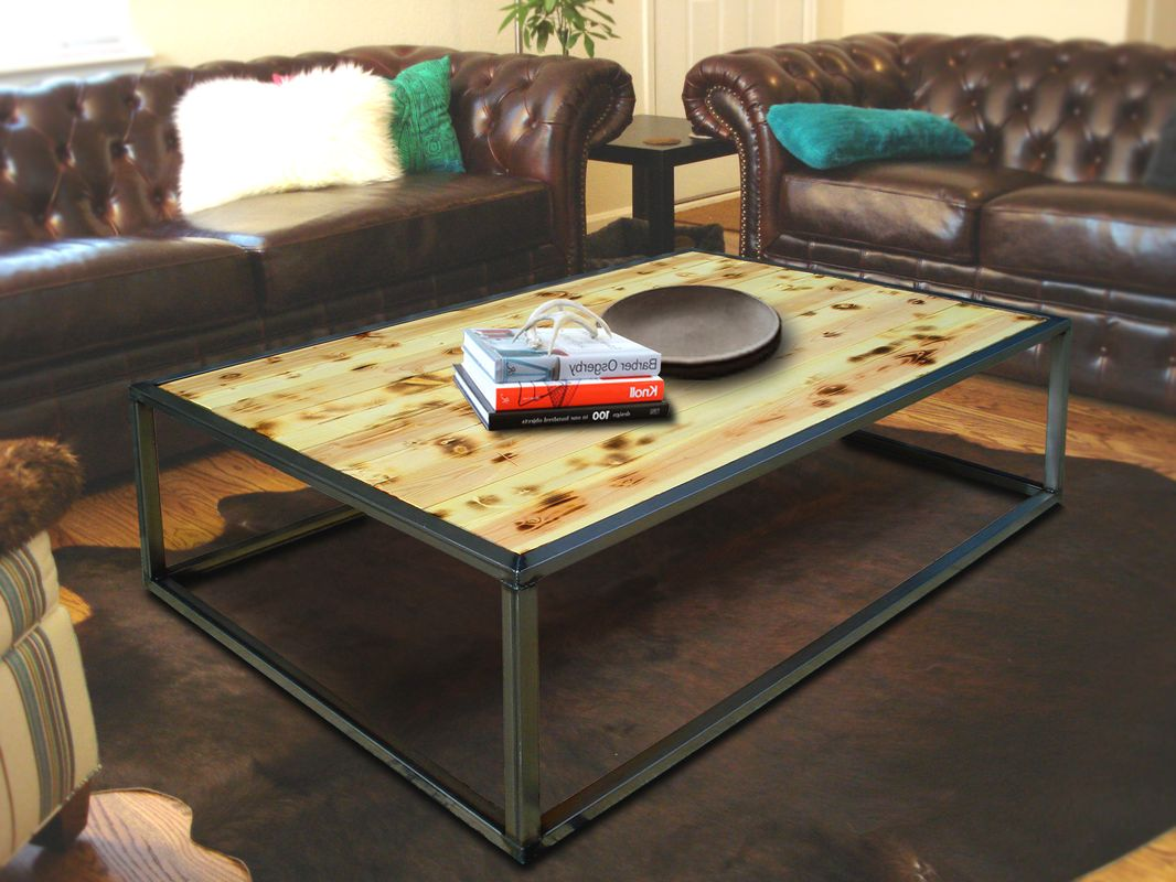 Industrial Modern Coffee Cocktail Table Set Kb Furnishings Modern Furniture And Industrial